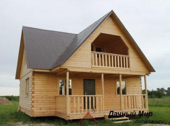 Большой фотоотчет построенного дома из бруса