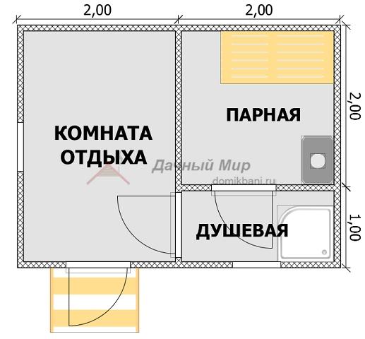 план каркасной баньки 3 на 4