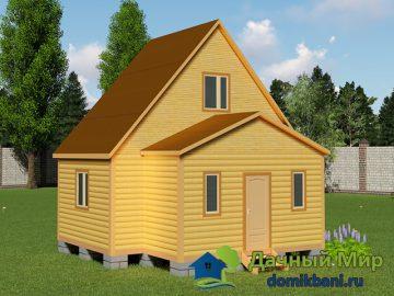 Проект дома 4х7 с мансардой