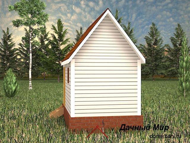 вид каркасной одноэтажной бани 5 на 3