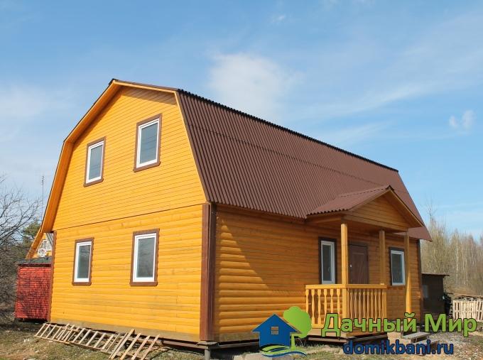 Дом мансардной крышей