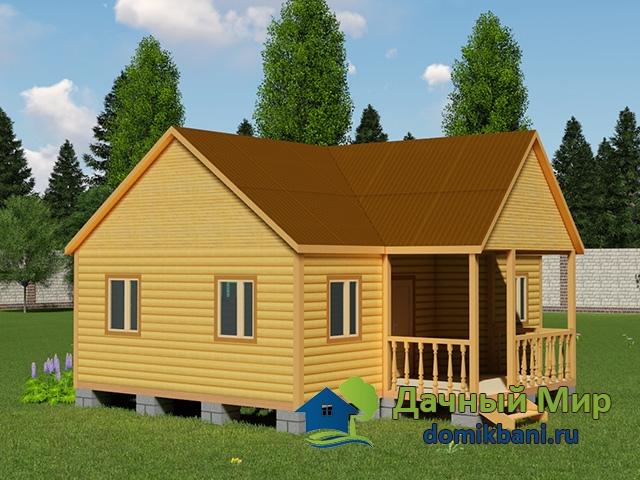 Одноэтажный дом 8 на 9