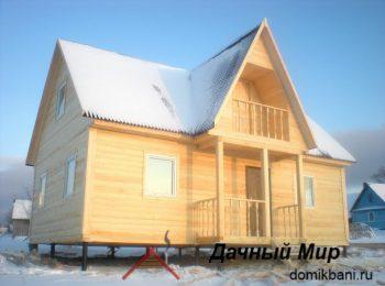 Построили дом из бруса в Волхове