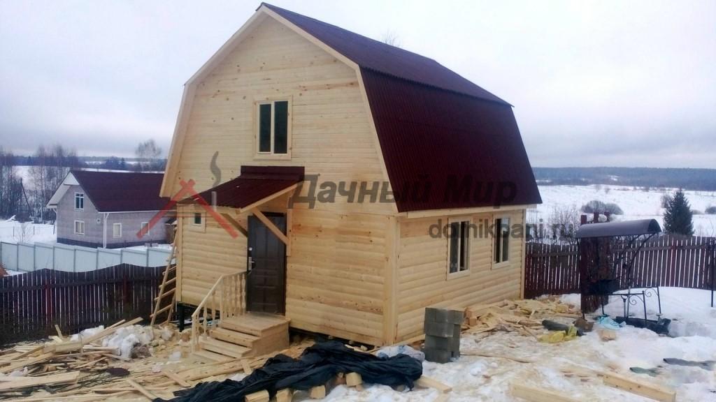 Построен дом из бруса в Каширском районе