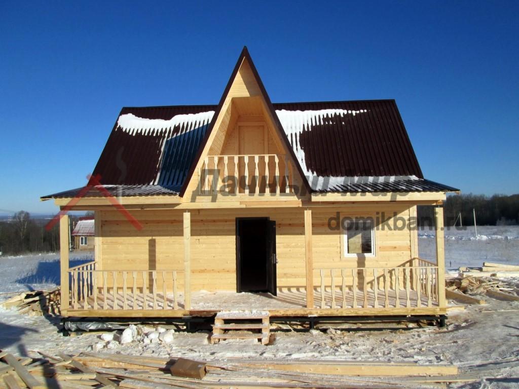 Построен дом из бруса в Серпухове