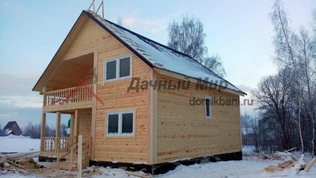 Построен дом из бруса под Владимиром