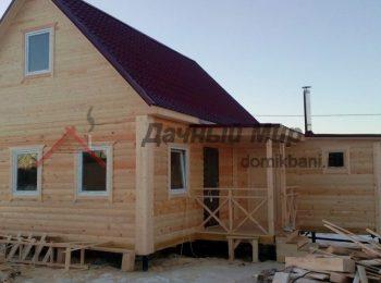 Построен дом из бруса с баней в Реутове