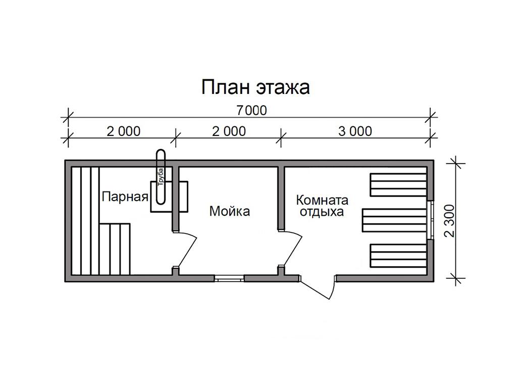 размер бани перевозной